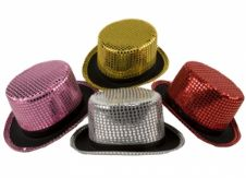 Sequined Top Hats